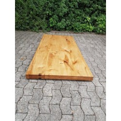 Tischplatten auf Maß Eiche 80mm Massiv aufgedoppelt
