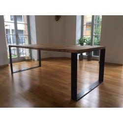 Esstisch Eiche 40mm vollmassiv Kufengestell bündig  Schreibtisch