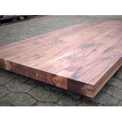Tischplatten auf Maß Amerikanischer Nussbaum 80mm Massiv aufgedoppelt