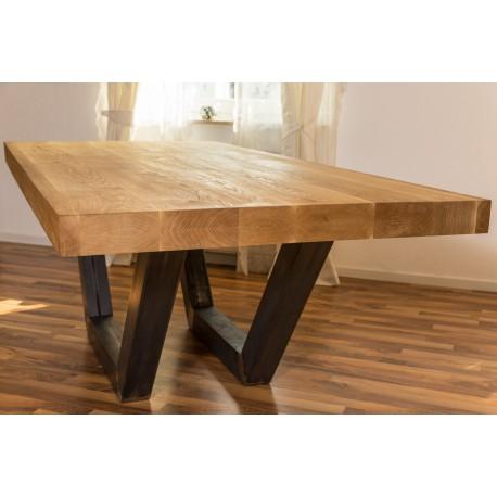 Holztisch eiche massiv great esstisch x cm eiche massiv for Holztisch massiv eiche
